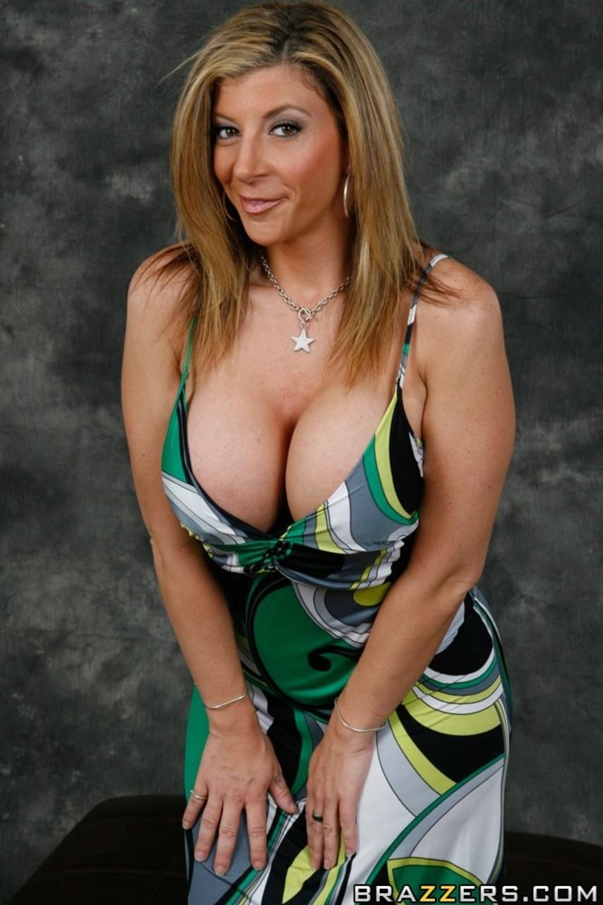 Short brunette with big tits